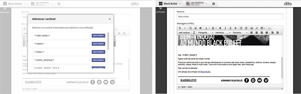 como criar campanhas segmentadas de email com a dito