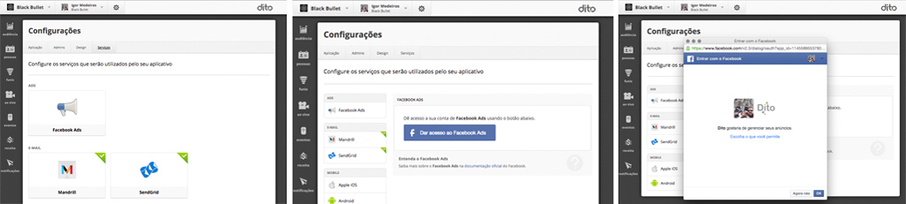 com usar a dito pra construir Facebook Custom Audiences
