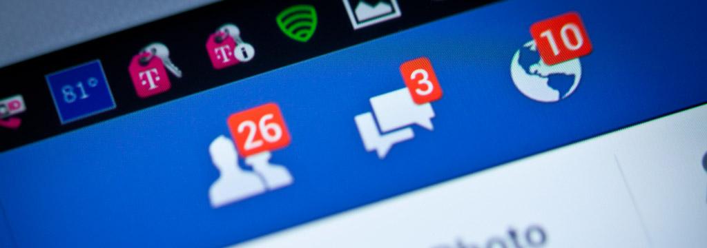como usar as notificações no facebook